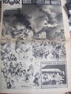 GRECE TREMBLEMENT TERRE/SPELEO LOUBENS /HOLLANDE GEANT VAN ALBERT/MARIANO /PARIS GREVE - Newspapers
