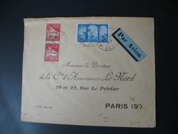 Enveloppe Alger 1930  Voyagé Par Avion De Alger RP  Pour Paris 9 - Lettres & Documents