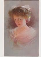Jolie Cpa Fantaisie   / Portrait De Jeune Femme  , Clair Obscur  ( Signature ?) - Frauen