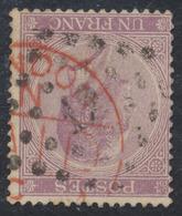 """émission 1865 - N°21 Obl Pt 12 """"Anvers"""" + Obl étrangères / Curiosité. - 1865-1866 Linksprofil"""