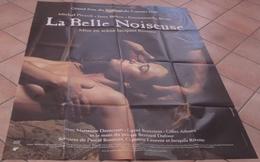 AFFICHE CINEMA ORIGINALE FILM LA BELLE NOISEUSE RIVETTE BEART PICCOLI BIRKIN TBE 1991 - Posters