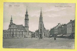 * Sint Truiden - Saint Trond (Limburg) * (Star, Nr 3076) Grand'Place Les 3 Tours, Grote Markt, Animée, Rare, Old - Sint-Truiden
