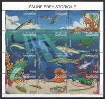Gabon 1995 / Prehistoric Animals MNH Dinosaurios Prähistorischen Tieren / Cu2908  36-25 - Vor- U. Frühgeschichte