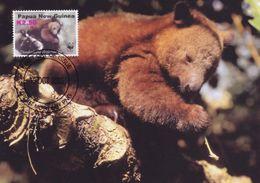 Dorias Tree Kangaroo Papua New Guinea WWF Stamp First Day Cover Postcard - Animales