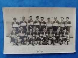 Equipe De Rugby Du 170 RI De Remiremont 1934-1935 Championnat Militaire Carte Photo Haute Saône Franche Comté - France