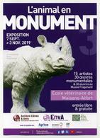 Dépliant Exposition 2019 L'animal En Monument. Rhinoceros. Ecole Vétérinaire De Maisons-Alfort (94) - Programmes