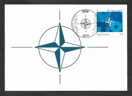 BRD 1999  Mi.Nr. 2039 , 50 Jahre NATO - Hagenbach Maximum Card - Erstausgabe Bonn 11.03.1999 - Maximum Cards