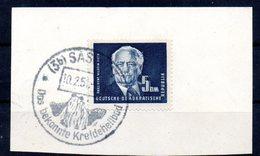 """(DDR-BM1) DDR  Freimarken """"Präsident Wilhelm Pieck"""" Briefstück Mi 255  Sauber Gestempelt (SSt) - DDR"""