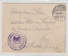 Hungary WWI K.u.K. 72. Infanterie-Brigade-Kommando Feldpost Letter Cover Posted 1917 FP634 To Senj B200125 - Croatia