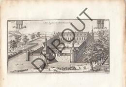 Originele Kopergravure Kasteel Van PIETREBAIS/INCOURT - 18de Eeuw  (J144) - Documents Historiques