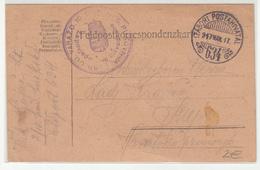 Hungary WWI Feldpost Postcard Posted 1917 FP634 Kr.Ug. Varaždinska 10. Pukovnija To Senj B200125 - Croatia