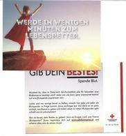 1640h: Werbekarte AK Rotes Kreuz Österreich, Blut Spenden - Werbepostkarten