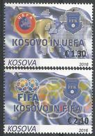 KOS 2016-351-2 KOSOVO IN UEFE AND FIFA,1 X 2v, MNH - Kosovo