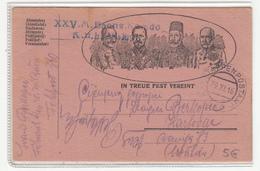 Austria WWI Feldpost Posted 1916 FP 360 XXV. M. Baons. Komdo. K.u.K. JR No. 96 To Karlovac B200125 - Croatia