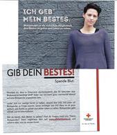 1640i: Werbekarte AK Rotes Kreuz Österreich, Blut Spenden - Advertising