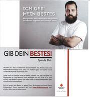 1640j: Werbekarte AK Rotes Kreuz Österreich, Blut Spenden - Health