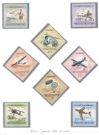 UNGHERIA (HUNGARY) -  SG  1366.1373  - 1954  AVIATION DAY: PLANES    (COMPLET SET OF 8)    -  USED° - RIF.CP - Usati