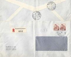 """R Brief  """"Munoz, Zollikon Zürich"""" - Basel         1950 - Suisse"""