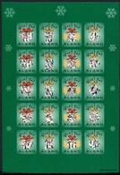 Aland Kleinbogen Weihnachtsmarken 2001 Postfrisch MNH (Wei840 - Aland