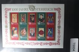 Österreich Jahrgang 1996 Mit 2177-2207, Block 12 Gestempelt #TS004 - 1945-.... 2. Republik