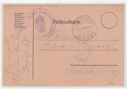Austria WWI Feldpost Postcard 1916 FP68 Zapovjedništvo Kr. Ug. Varaždinske 10.Domobranske Husarske Pukovnije To Senj - Croatia