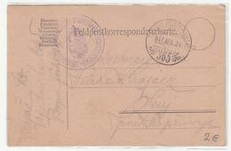Austria WWI Feldpost Postcard 1917 FP365 Zapovjedništvo Kr. Ug. Varaždinske 10.Domobranske Husarske Pukovnije To Senj - Croatia