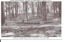 95 VILLA ST REGIS MOURS TOMBES DE SOLDATS - Beaumont Sur Oise