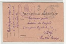 Hungary WWI Feldpost Postcard 1916 FP44 Kr.Ug. Varaždinska 10. Dom.Hus.Pukovnija To Senj B200125 - Croatia