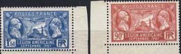 244 Et 245 Visite LEGION U.S NEUF** ANNEE 1927 - Nuovi