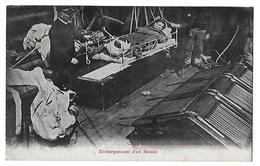 Embarquement D'un Malade   Cliché Des Oeuvres De Mer   (recto-verso) - Ships