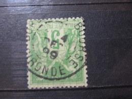 """VEND BEAU TIMBRE DE FRANCE N° 106 , OBLITERATION """" BORDEAUX - BOURSE """" !!! - 1876-1898 Sage (Type II)"""