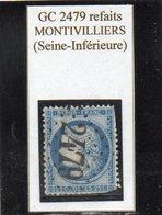 Seine-Maritime - N° 60C (déf) Obl GC 2479 Refaits Montivilliers - 1871-1875 Cérès