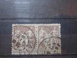 """VEND BEAUX TIMBRES DE FRANCE N° 88 EN PAIRE , OBLITERATION """" COSNE """" !!! - 1876-1898 Sage (Type II)"""