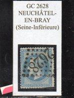 Seine-Maritime - N° 29B (déf) Obl GC 2628 Neuchâtel-en-Bray - 1863-1870 Napoléon III Lauré