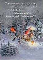 Brownie - Gnome - Elf Feeding Birds - Bullfinches - Raimo Partanen - Navidad