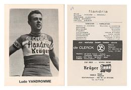 CARTE CYCLISME LUDO VAN DROMME TEAM FLANDRIA 1969 FORMAT 7,5 X 10 - Radsport