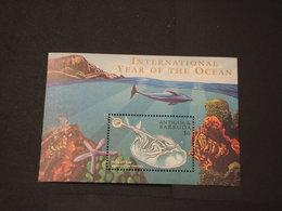 ANTIGUA -  BF1998 FAUNA MARINA - NUOVO(++) - Antigua E Barbuda (1981-...)