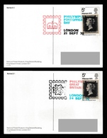 GREAT BRITAIN 1970 Philympia 1970: Two NPM Postcards USED/CANCELLED - 1952-.... (Elizabeth II)