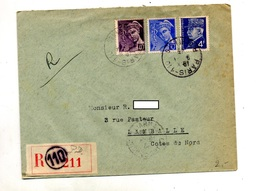 Lettre Recommandée Paris 110 Sur Mercure Petain - Marcophilie (Lettres)