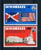 Seychellen 1976 200 Jahre Vereinigte Staaten Mi.Nr. 356/57 Kpl. Satz ** - Seychellen (1976-...)