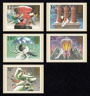 GREAT BRITAIN 1983 Christmas: Set Of 5 PHQ Postcards MINT/UNUSED - 1952-.... (Elizabeth II)