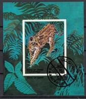 Oman 1969 Felini Leopardo Ocelot Leopardus Pardalis Sheet Imperf. CTO - Oman