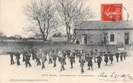 20-1789 : LOUE. ECOLE SUPERIEURE. LA LECON DE GYMNASTIQUE. ( Partiellement Décollée ) - Loue