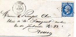 Seine-Maritime - LSC Affr N° 22 Obl GC 4358 - Càd Type 15 Yvetot - 1849-1876: Période Classique