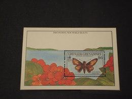 GRENADA/GRENADINES - BF 1990 FARFALLA - NUOVI(++) - Grenada (1974-...)