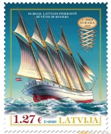 Latvia 2020 History Of Navigation. Ship. Mi 1100 - Latvia