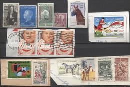 15 Zegels Restant Verzameling - Zie Scan / 15 Timbres Restant D'une Collection - Dubbels + 11 Zegels Op Fragment - Tunisie (1956-...)