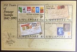 Singapore 1990 Stamp Anniversary Minisheet MNH - Singapore (1959-...)