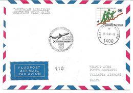 1640v: First Flight Austrian Airlines Wien- Malta 1981 - Malta