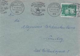 84925- NURNBERG TOYS FAIR SPECIAL POSTMARKS ON COVER, DAIMLER CAR, 1962, WEST GERMANY - [7] République Fédérale